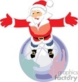 Santa Claus holding his Arms Out to the World