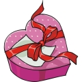 Heart shaped candy box.
