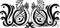 black and white tribal birds forward facing gif, png, jpg, eps