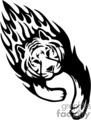 animal animals flame flames flaming fire vinyl-ready vinyl ready hot blazing blazin vector eps gif jpg png cutter signage black white tiger tigers