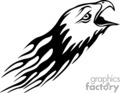 flaming eagle head gif, png, jpg, eps
