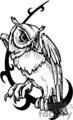 black and white owl design