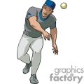 man throwing a ball