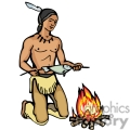 indian indians native americans western navajo cooking fish fire vector eps jpg png clipart people gif gif, png, jpg, eps