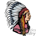 indian indians native americans western navajo chief chiefs headpiece vector eps jpg png clipart people gif