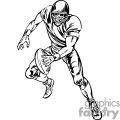 Quarterback dodging a tackle