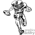 Football player going for a touchdown