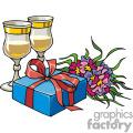 Christmas gifts and drinks