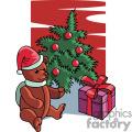 christmas bear gif, png, jpg