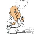 Bald Elvis  impersonator singing
