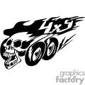 4x4 skull graphic