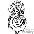 star galaxy tattoo swirl design