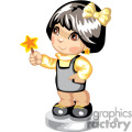 Cutel little girl holding a star
