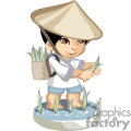 little asian boy gathering his harvest gif, png, jpg, eps