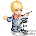 Little boy orchestra conductor