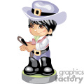 a little boy in western dress carrying a whip gif, png, jpg, eps