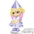 A Little Girl in a Princess Costume Acting Shy