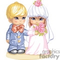 little boy in a blue suit and a girl in a pink wedding dress and veil ready for the wedding