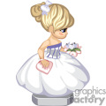 small girl wearing a wedding dress