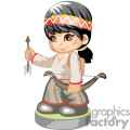 native american boy holding a bow and arrow gif, png, jpg, eps