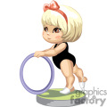 little girl gymnast in a black leotard holding a ring gif, png, jpg, eps