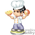 A little chef boy holding cheese