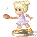 blond little girl playing ping pong gif, png, jpg, eps