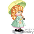 little girl holding umbrella gif, png, jpg, eps