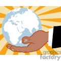 2820-African-American-Bussines-Hand-Holding-Globe