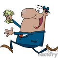 man running with a handful of cash gif, png, jpg, eps, svg, pdf