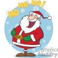 happy santa claus saying ho ho ho