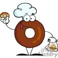 3479-Friendly-Donut-Cartoon-Character-Holding-A-Donut