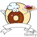 3485-Cartoon-Logo-Friendly-Donut-Chef-Cartoon-Character-Holding-A-Donuts
