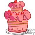 3494-Royalty-Free-RF-Clipart-Illustration-Pink-Two-Tiered-Cake