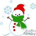 snowman with green scarf gif, png, jpg, eps, svg, pdf