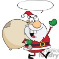 Jolly-Christmas-Santa-Waving-And-Walking-With-Speech-Bubble