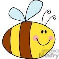 4117-Fflying-Bee-Cartoon-Character