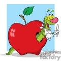 4100-Happy-Cartoon-Worm-In-Apple