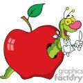 4098-Happy-Cartoon-Worm-In-Apple