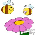two bees and a flower