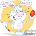 white cartoon bunny