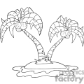 black and white tropical island