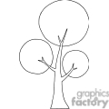 black and white tree outline