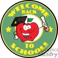 4286-happy-apple-character-graduate-holding-a-diploma-with-text-back-to-school-banner  gif, png, jpg, eps, svg, pdf