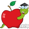 4266-Happy-Graduate-Worm-In-Apple