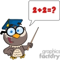 4300-owl-teacher-cartoon-character-with-graduate-cap-,pointer-and-speech-bubble  gif, png, jpg, eps, svg, pdf