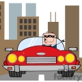 4354-cartoon-doodle-businessman-driving-convertible-car-in-the-city  gif, png, jpg, eps, svg, pdf