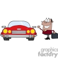 4328-African-American-Businessman-Waving-To-Convertible-Car