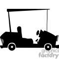4334-Cartoon-Silhouette-Golf-Car