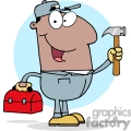 4318-construction-worker-with-hammer-and-tool-box  gif, png, jpg, eps, svg, pdf